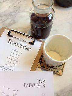 Santa Isabel. [Top Paddock Cafe - Richmond, Melbourne]