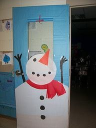 Winter Classroom Decorations. This would look cute on a smaller scale on my door window.