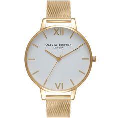 Olivia Burton Big Dial Gold Mesh OB15BD84