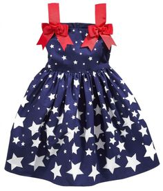Bonnie Jean M02974 Girls Infant Star Print Sundress