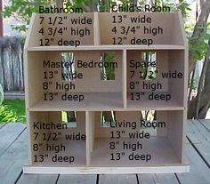 sample dollhouse dimensions
