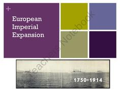 History: Imperialism -The reasons, extent and impact of European Imperialism product from Bit-of-this-and-That on TeachersNotebook.com Ap European History, Economics, The Expanse, Geography, Student, Finance