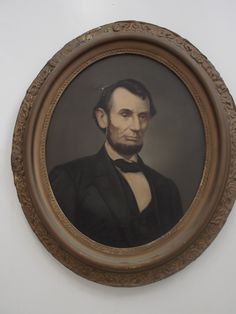 A lithograph of Abraham Lincoln from my late husband's collection.