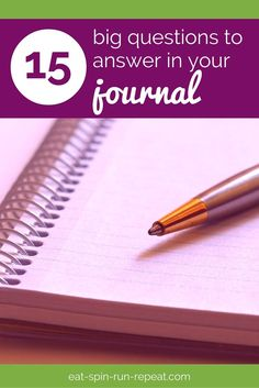 15 big questions to answer in your journal - Perfect for anyone who loves goal setting, self development, and living an inspired life!