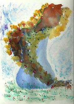 Aquarelle vase
