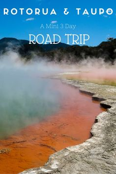 Hot Springs and Volcanoes: A Mini 3 Day Road Trip Around Rotorua and Taupo - as Simple as This New Zealand Destinations, New Zealand Travel, Travel Destinations, Road Trip Packing, Road Trip Hacks, Road Trips, Cool Places To Visit, Places To Go, Rotorua New Zealand