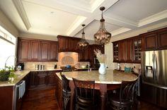 Kitchen 2 Charleston Saddle cabinets @Lily Ann Cabinets.com