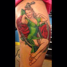 Beautiful pinup by Mike Pritchett @ Matchless Tattoo