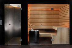 KUNG AG Sauna construction, Wädenswil, Switzerland: Turkish - Sauna - Home Gym Dry Sauna, Steam Sauna, Home Spa Room, Spa Rooms, Design Sauna, Design Design, Interior Design, Home Sauna Kit, Indoor Sauna