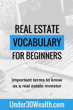 Real estate terminology and vocabulary for beginners. Learn the real estate words used by investors agents realtors and other real estate industry Real Estate School, Real Estate Career, Real Estate Business, Real Estate Investor, Selling Real Estate, Real Estate Tips, Real Estate Marketing, Wholesale Real Estate, Getting Into Real Estate