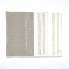 The Lines Placemat - Cotton hand embroidery on linen - Set of 4 50 cm x 40 cm - CHF 85 Linen Napkins, Napkins Set, Three Color Combinations, Placemat, Coaster Set, Own Home, Different Colors, Hand Embroidery, Artisan