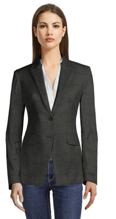 Made to measure Linen Skirt Suit Blazers For Women, Suits For Women, Clothes For Women, Casual Blazer, Blazer Suit, Double Breasted Jacket, Ladies Dress Design, Latest Fashion For Women, Shirt Dress