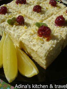 Adina's kitchen & travel: Prajitura cu crema de lamaie si ciocolata alba
