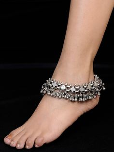 Silver Ghungroo Anklet