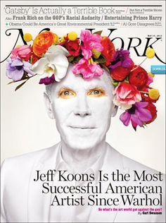 Jeff Koons stars this new cover New York Magazine   Photography Martin Schoeller Design Director Thomas Alberty