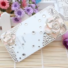 3d Bling Crystal Rhinestone Flower Case Cover for Apple Iphone 4 and 4s (Color: Pink, Plus 1 Dust Plug!! Limited Time!!)