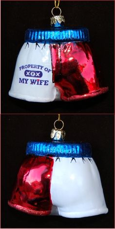 Property of My Wife Boxer Shorts Personalized Christmas Ornament