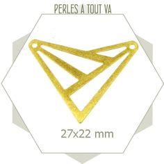 8 connecteurs triangles doré mat - motif ajouré