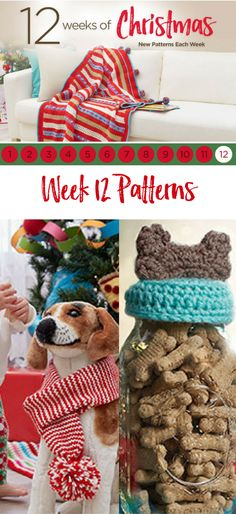 Celebrate the 12 weeks of Christmas with Red Heart and new patterns each week. Download all 12 weeks worth of patterns.