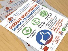 Ideazione grafica e stampa di volantino con elementi di infografica