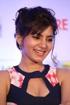 Samantha Stills in Designer Saree at Surya 24 Movie Audio Launch ★ Desipixer  ★