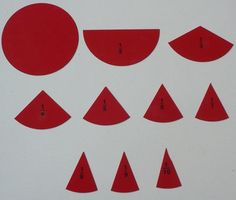 Lire en français Maria Montessori created this very simple material to teach young children what fractions are. 1° What is a fraction? One Show the circle and explain that it is «1» because it i…