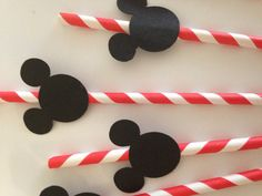 Mickey Mouse straws Minnie pink and red by DivineGlitters on Etsy