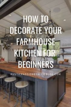 Get inspired by these dream farmhouse kitchens. The white and gray neutral colors are perfect. You love the Modern Farmhouse and French Country Style but don't know how to decorate! Learn how to decorate your kitchen like Joanna Gaines at an affordable cost. Quick inspiration to decorate like a professional when you aren't one. #joannagaines #modernfarmhousedecor #frenchcountryhome #farmousekitchen