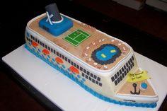 Cruise Ship Cake - By: Sweet Celebrations