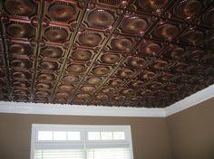 tin ceiling tiles | Faux Tin - Antique Copper Ceiling Tile www.ceilingtilesbyus.com