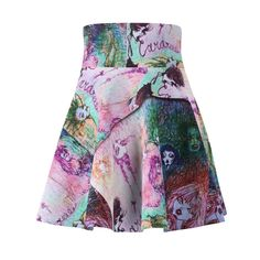 LWaist width, (w/o waistband), fit AOP skater skirt with a cozy, soft touch and a casual look. Casual Looks, Tie Dye Skirt, Skater Skirt, Skirts, Fashion, Moda, Fashion Styles, Skater Skirts, Skirt