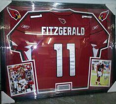 Framed jersey of #ArizonaCardinals star wide receiver #LarryFitzgerald #FramedJersey #JerseyFraming