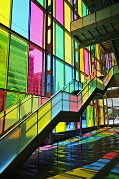 Light and colors ... Le Palais des Congrès de Montréal