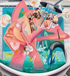 """Dana Schutz, Slow Motion Shower, 2015, courtesy of the artist and Petzel, New York. From Artsy's """"50 Must-See Fall Gallery Shows"""""""