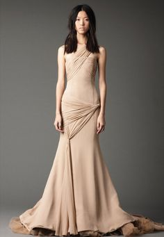 Wedding Dresses, Bridal Gowns by Vera Wang | Fall 2012.  Love the structure of this dress