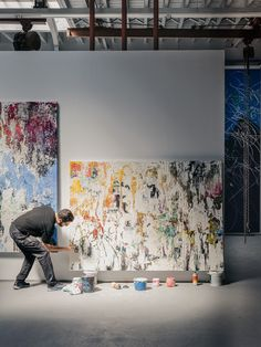 portrait, Dustin Aksland, José Parlá , art, artist, contemporary art, new york city, nyc, miami, graffiti, bryce wolkowitz gallery