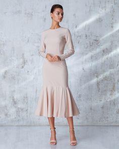 Платье «Лиза» миди беж,Цена— 26990 рублей