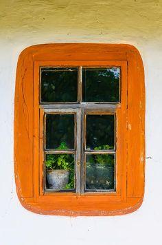 ukrainian Window | Detail of a window of a typical ukrainian antique house Print by Alai ...
