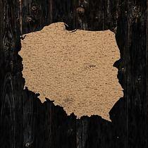 Korkowa mapa Polski_105x98cm, dodatki - plakaty, ilustracje, obrazy - inne