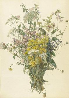 Gustav Feith (1875 — 1951, Austria) Bunch of Flowers. 1946 watercolour and gouache on paper. 47.5 x 34.5 cm.