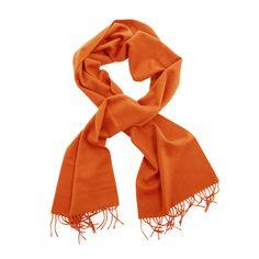 Joshua Ellis orange cashmere scarf  ( art.904 ), $119