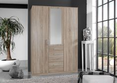 Kleiderschrank Click 135,0 Eiche Sägerau 10400. Buy now at https://www.moebel-wohnbar.de/kleiderschrank-click-135-0-eiche-saegerau-10400.html