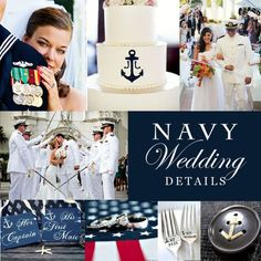 The Perfect Details featuring Military Navy Wedding Details! We are proud of you and that you serve our Country! Anchor Wedding, Nautical Wedding, Trendy Wedding, Perfect Wedding, Dream Wedding, Wedding Day, Navy Sailor Wedding, Wedding Memorial, Wedding Stuff
