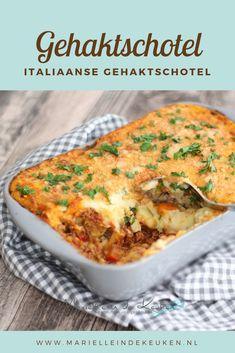 Italiaanse gehaktschotel Bonfire Night, Vegan, Ovens, Love Food, Mashed Potatoes, Crockpot, Food And Drink, Favorite Recipes, Ethnic Recipes