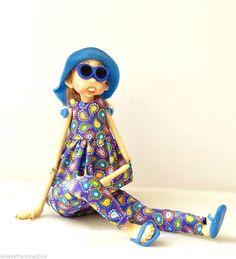 Ooak Art Doll Handmade - BEACH BABY IZZIE