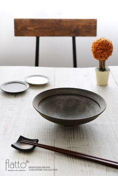 shiro-kuro 6寸鉢(黒)/作家「トキノハ」/和食器通販セレクトショップ「flatto」#トキノハ #和食器