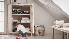 Gravity Home: IKEA Stockholm 2017 Linen cupboard Ikea Stockholm, Stockholm 2017, Design House Stockholm, Bedroom Size, Master Bedroom, Home Design, Buffet, Sweet Home, Linen Cupboard