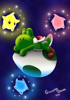 Yoshi sweet dreams by on DeviantArt Super Mario Bros, Super Mario World, Super Mario Brothers, Donkey Kong, Yoshi Drawing, Mario Y Luigi, Nintendo World, Nintendo Ds, Nintendo Switch