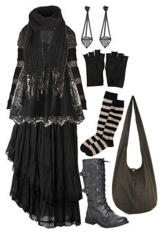 """""""Wishing for winter No. 2"""" by n-nyx ❤ liked on Polyvore featuring Raxevsky, BCBGMAXAZRIA, Jill Stuart, AllSaints, witch, darkmori and woodwitch"""