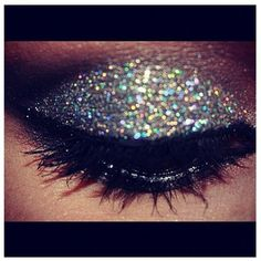 glitter eyeshadow...cool but a little much